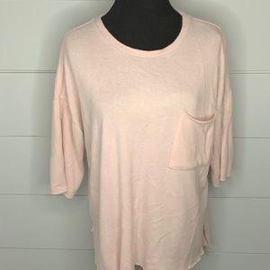 Philosophy blush pink oversized sweater